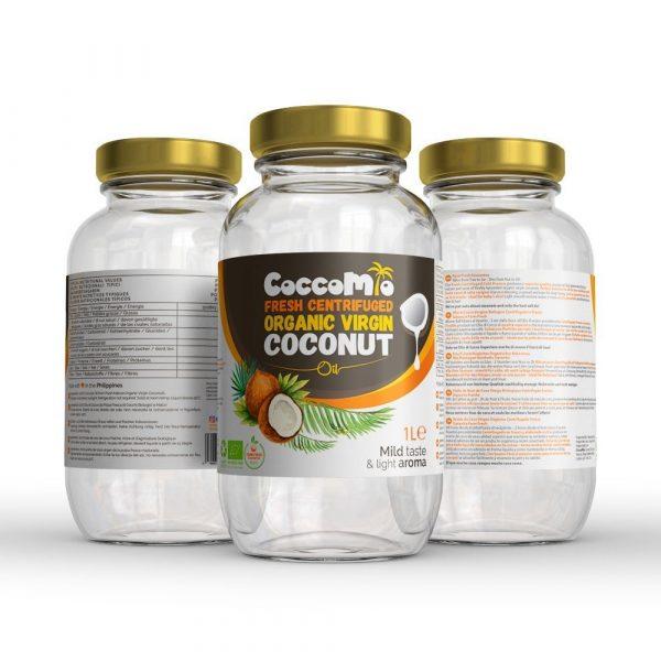 CoccoMio Fresh Centrifuged Organic Virgin Coconut Oil 1L Jars