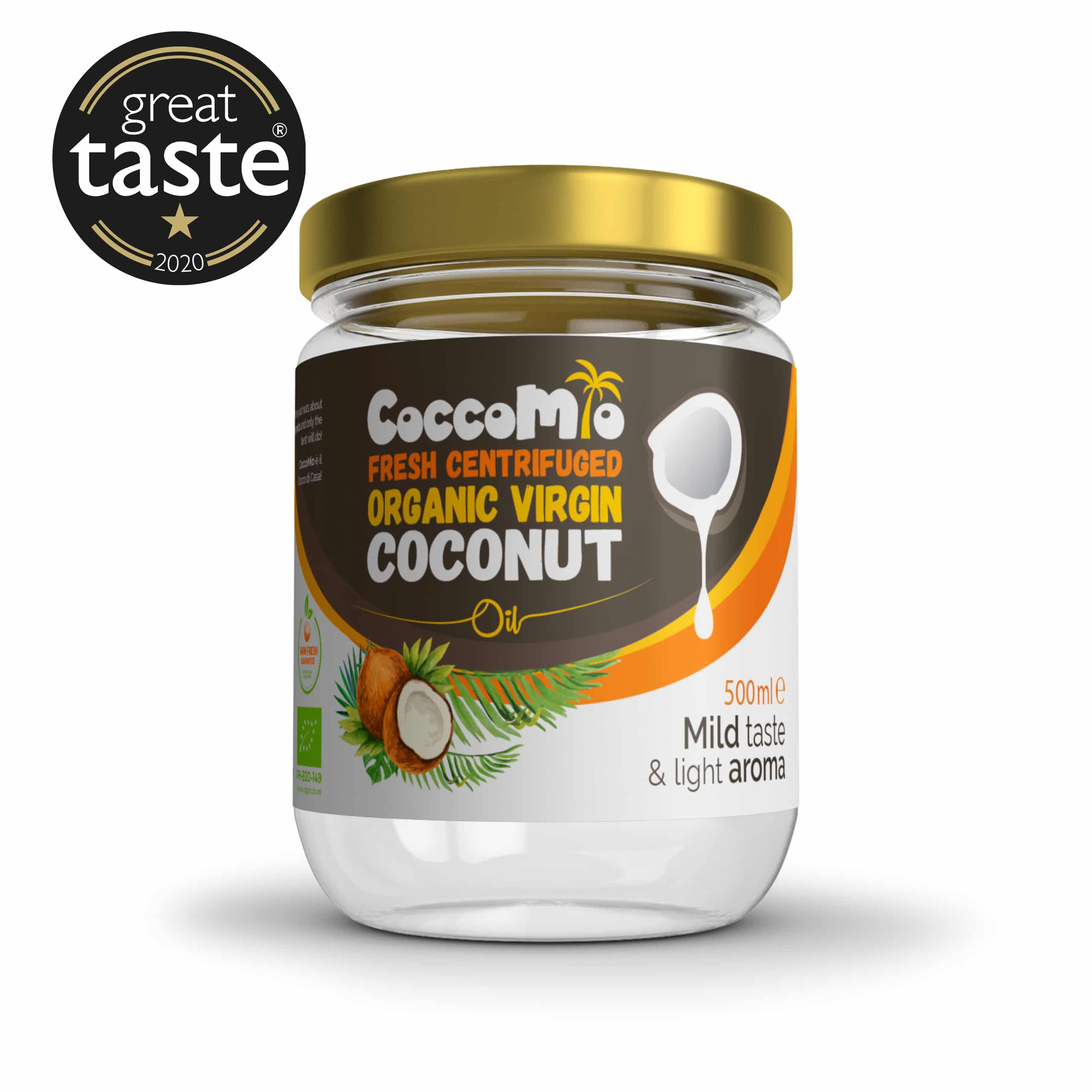 CoccoMio Fresh Centrifuged Organic Virgin Coconut Oil 500ml