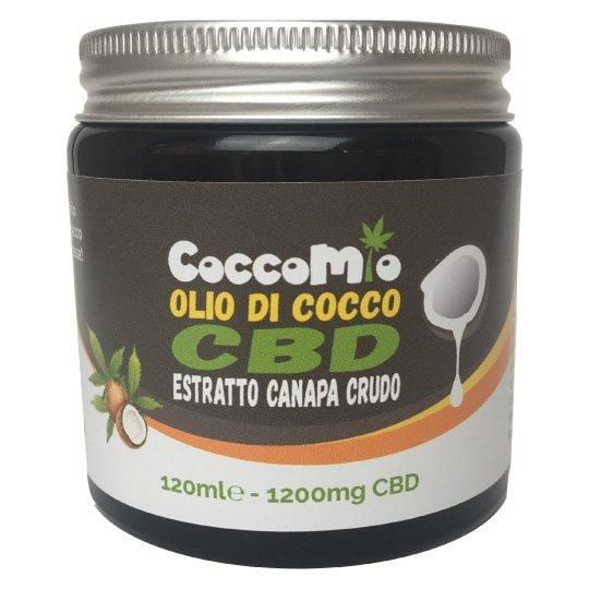 CoccoMio Olio di Cocco CBD Estratto Crudo 1200mg