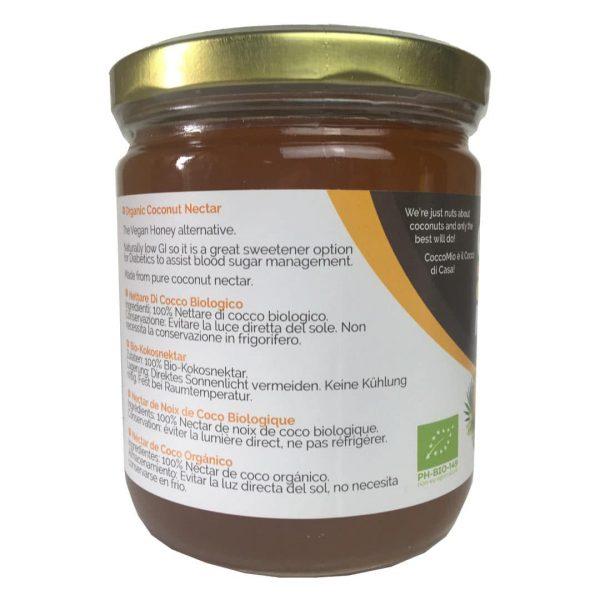 CoccoMio Organic Coconut Nectar Label Info 400ml