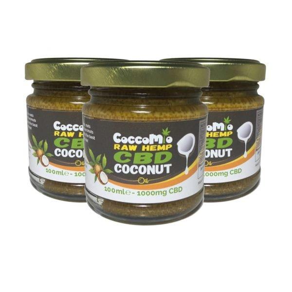 CoccoMio Raw Hemp CBD Coconut Oil 1000mg Jars