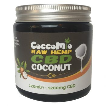 CoccoMio Raw Hemp CBD Coconut Oil 1200mg