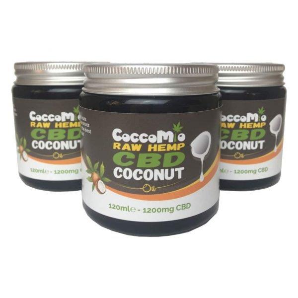 CoccoMio Raw Hemp CBD Coconut Oil 1200mg Jars