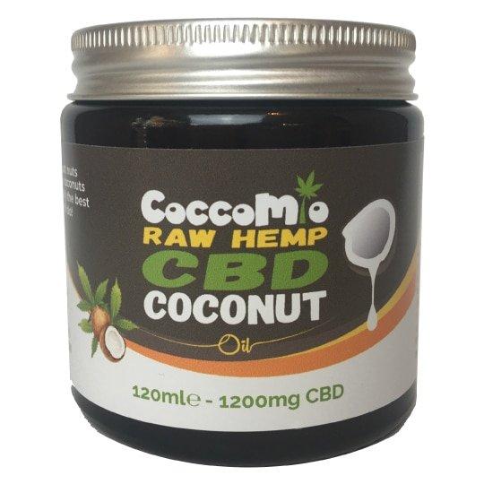 CoccoMio Raw Hemp CBD Coconut Oil 1200mg