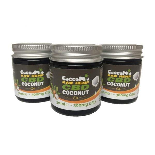CoccoMio Raw Hemp CBD Coconut Oil 300mg Jars