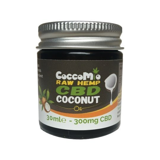 CoccoMio Raw Hemp CBD Coconut Oil 300mg
