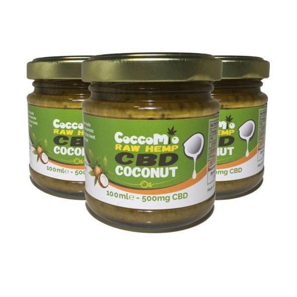 CoccoMio Raw Hemp CBD Coconut Oil 500mg Jars