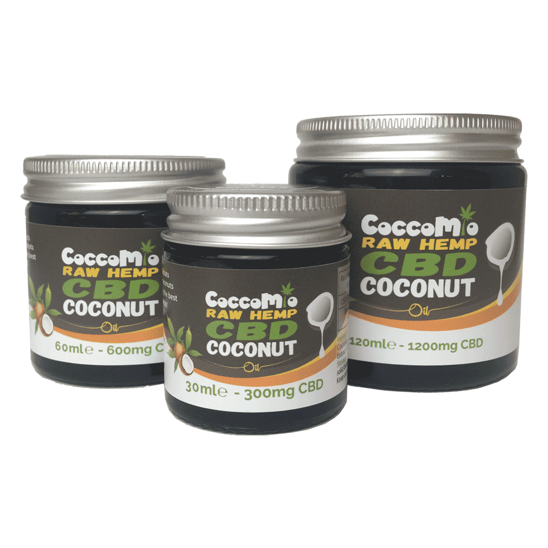 CoccoMio Raw Hemp CBD Coconut Oil All Jars