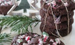 CoccoMio Vegan Double Chocolate Candy Cane Cookies