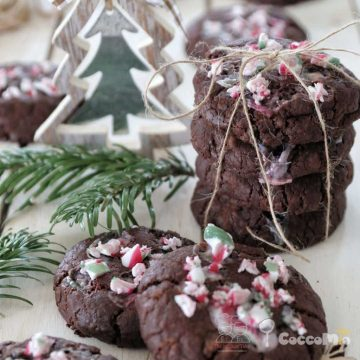 CoccoMio Vegan Double Chocolate Candy Cane Cookies