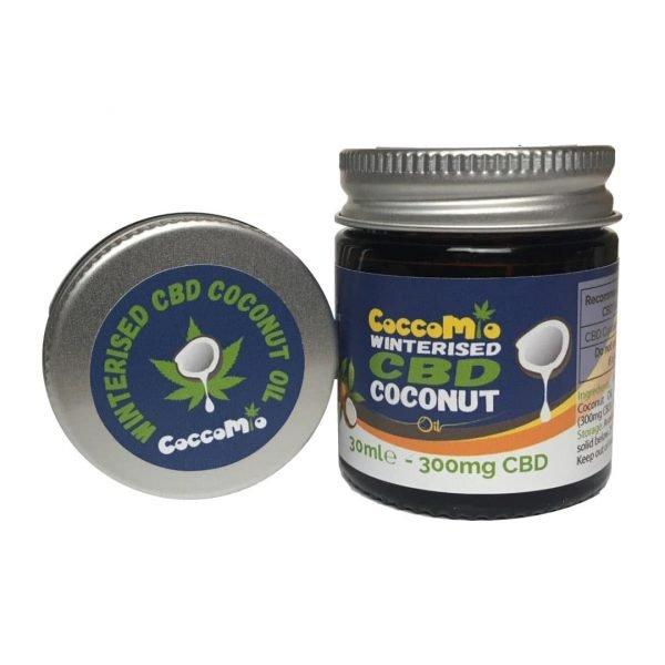 CoccoMio Winterised CBD Coconut Oil 300mg Jar and Lid