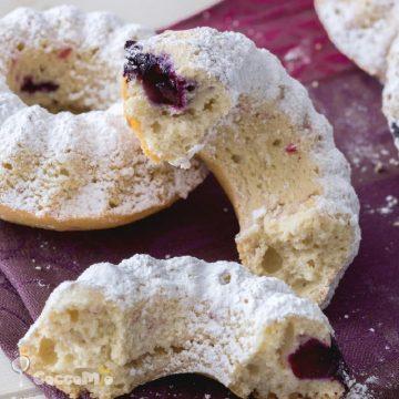 Fluffy Coconut and Red Berry Doughnut Recipe