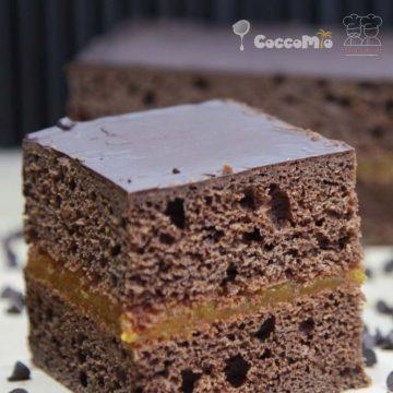 Vegan Chocolate Orange Cake Filled with Orange Compote Recipe